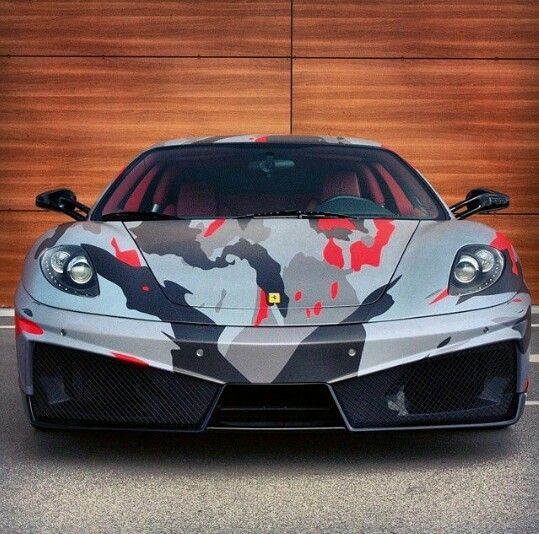 Camo Ferrari F430 Nice Cars Cool Sports Cars Ferrari