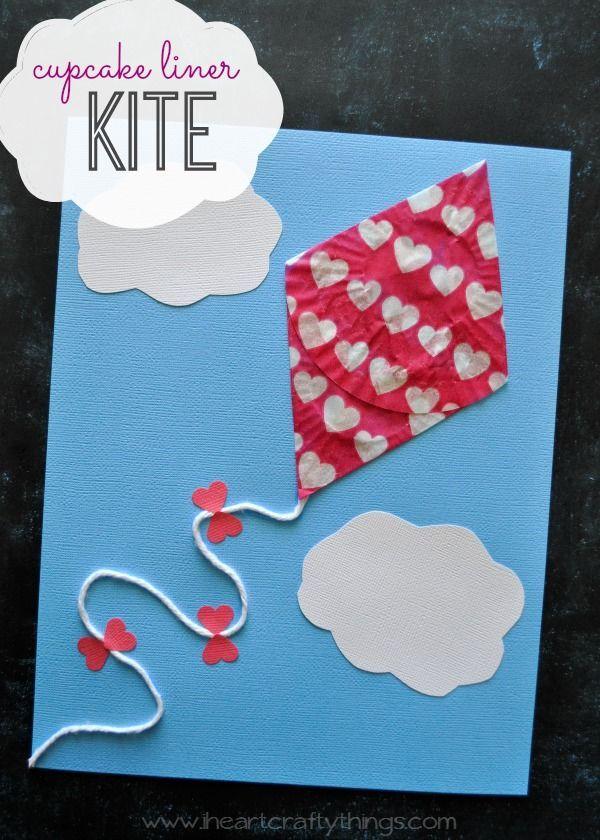 Cupcake Liner Kite Craft For Kids