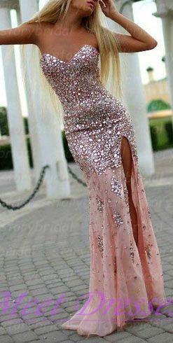 Pink Prom Dress Mermaid Sweetheart With Sparkly Beaded Bodice Corset Ed