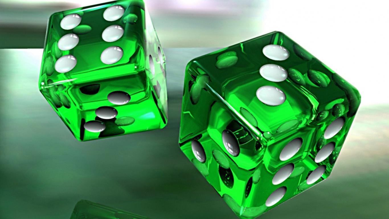 3d green glass dice art d hd wallpaper - (#3252) - HQ Desktop ...