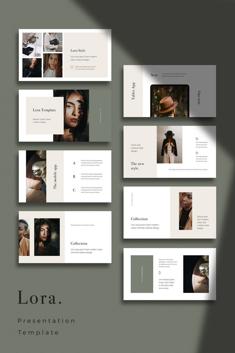 LORA - Modern and Simple PowerPoint Template #82257