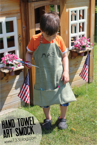 Hand Towel Art Smock Tutorial for kids! from seven thirty three - - - a creative blog