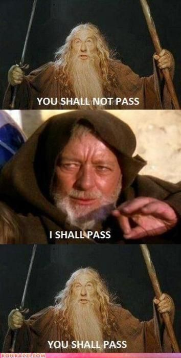 Gandalf Vs Obi Wan Kenobi Star Wars Humor Star Wars Memes Star Wars
