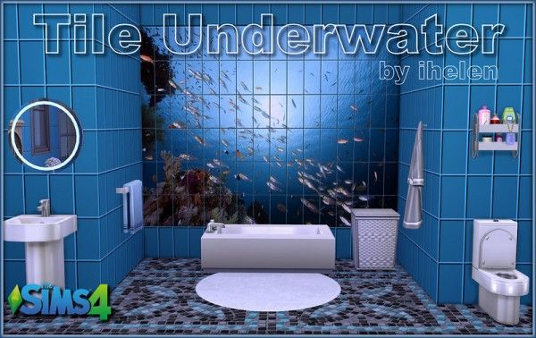 Ihelen Sims: Tile Underwater • Sims 4 Downloads