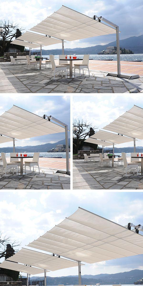 flexy est un grand parasol rectangulaire modulaire il. Black Bedroom Furniture Sets. Home Design Ideas