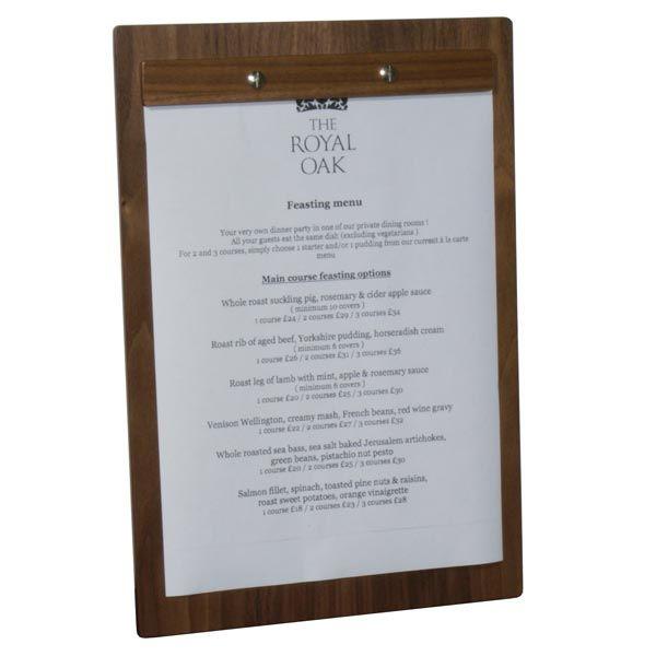 Wooden A4 Menu Board With Screw Fixing H Tb401 Wooden A4 Menu Board With Screw Fixing H Tb401 Its Free Morans Coffee Shop Menu Menu Cover Menu Holders