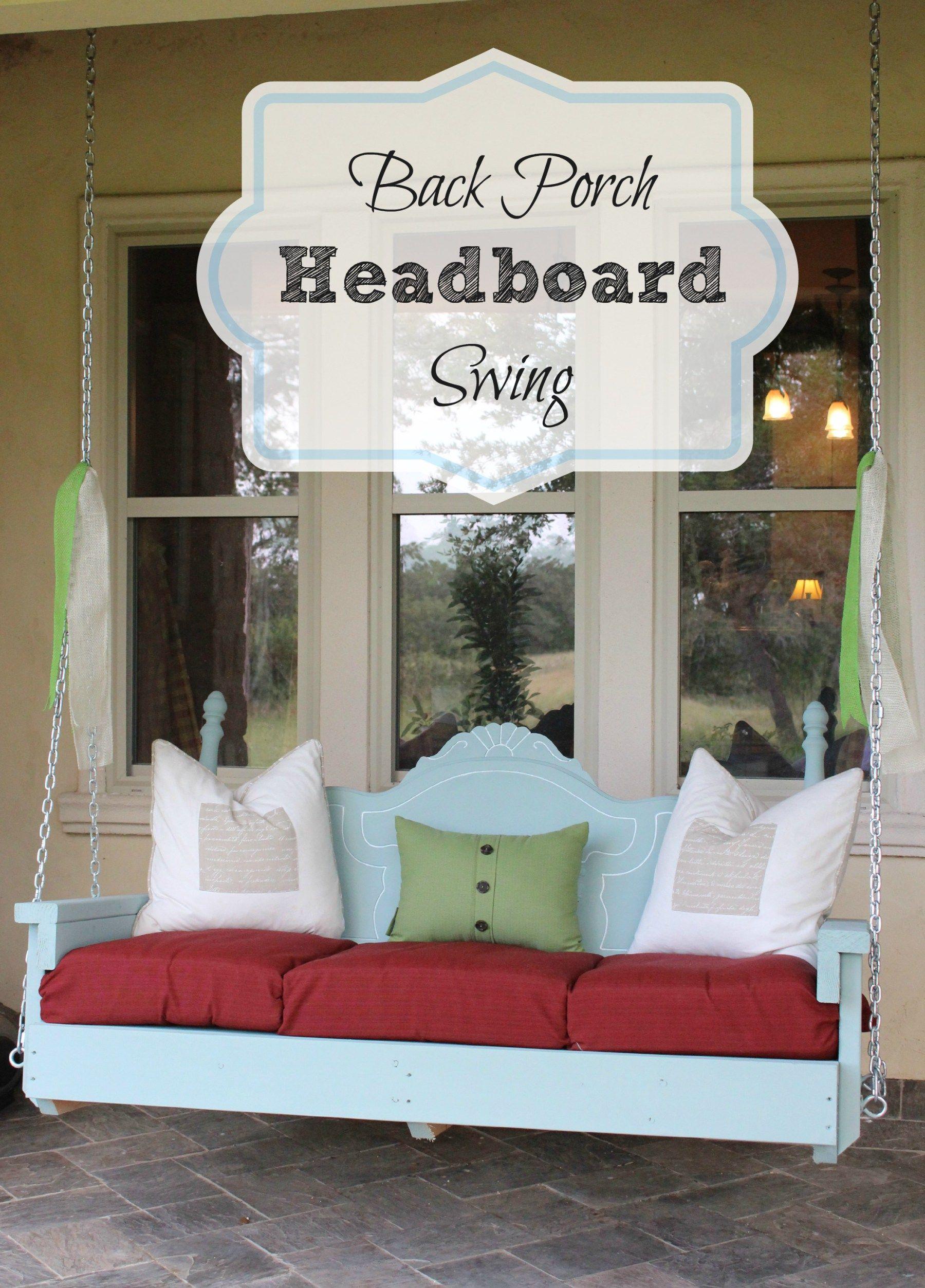 Back Porch Headboard Swing
