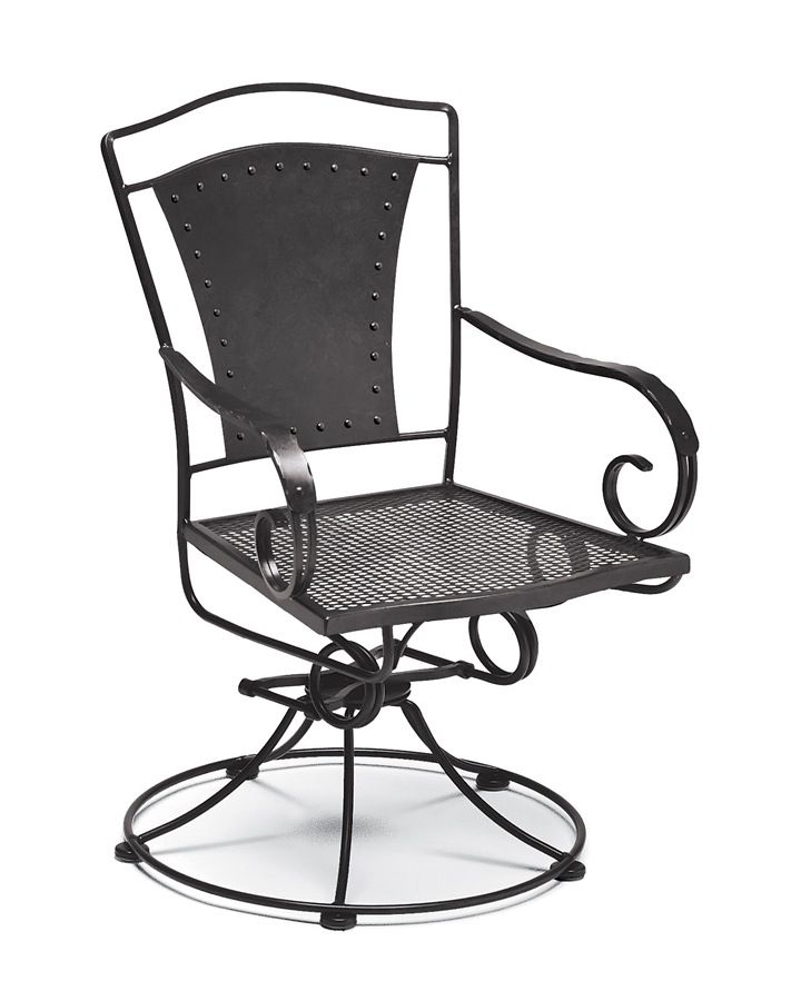 Wrought Iron Rocking Chair W Coil Spring Base And Swivel Motion