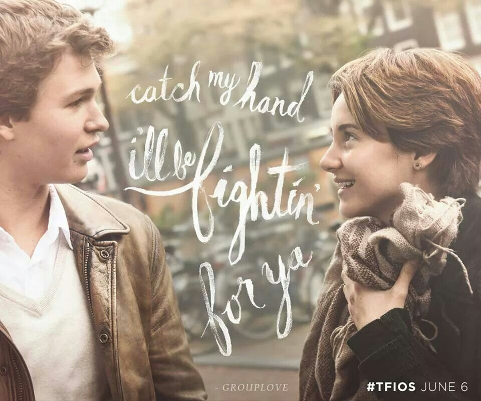Catch my hand i'll be fightin' for ya. Let me in #TFIOS