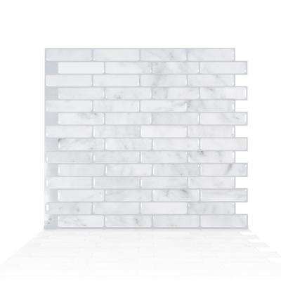 Milenza Bari 10 20 In W X 9 00 In H Grey Peel And Stick Self Adhesive Decorative Mosaic Wall Tile Backspl Smart Tiles Self Adhesive Wall Tiles Stick On Tiles