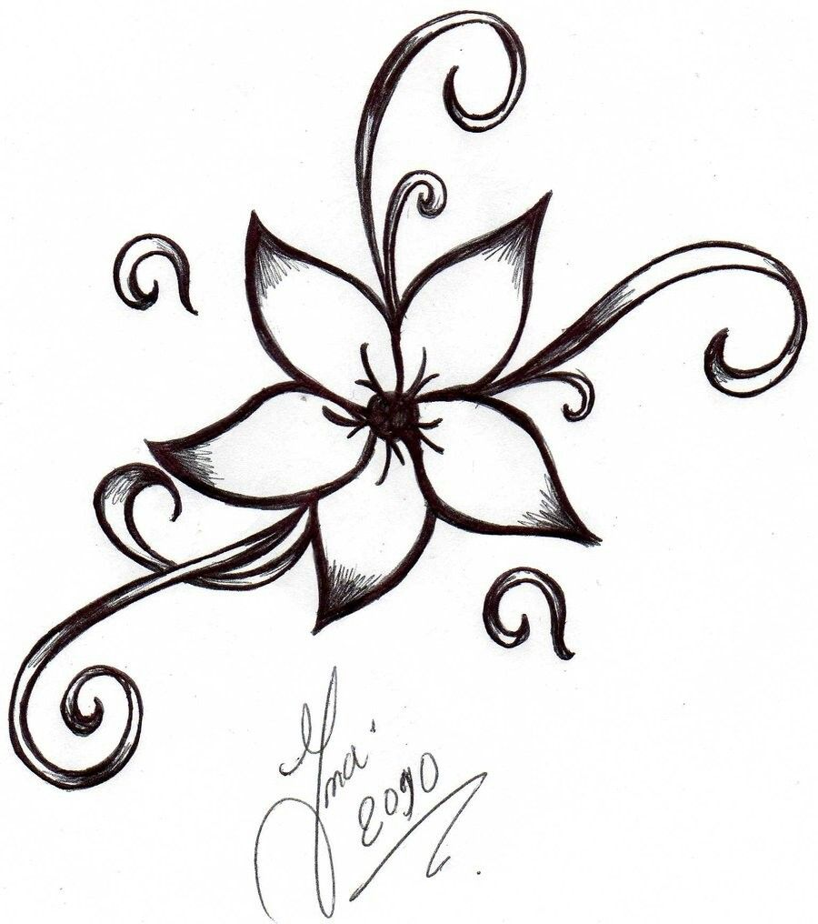 Pin by andrea 816 469 0183 on tattoo in 2018 pinterest - Dessin fleur facile ...