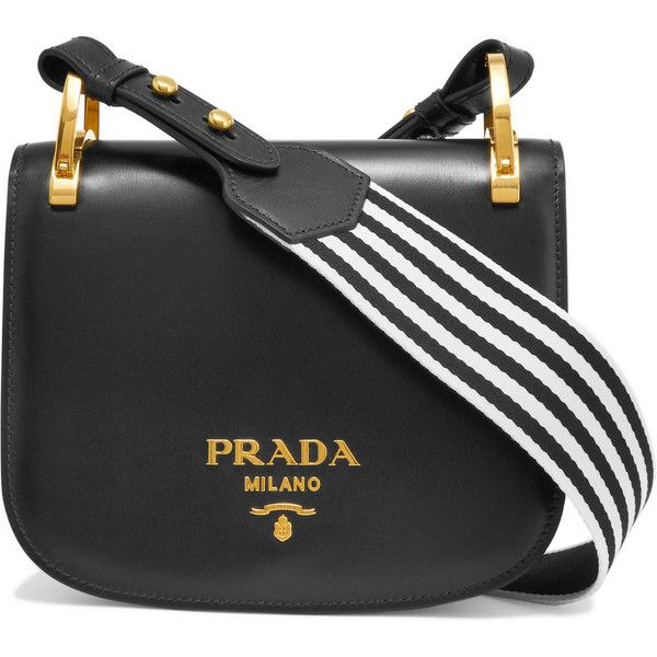 Cheap Sale Hot Sale Free Shipping Low Price Pionnière Leather Shoulder Bag - Emerald Prada Cheap Really Manchester Sale Online snpECZ