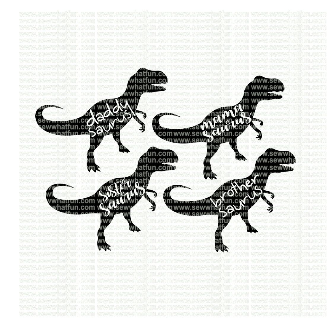 Family Dinosaur Svg Cutting File Vinyl File Svg