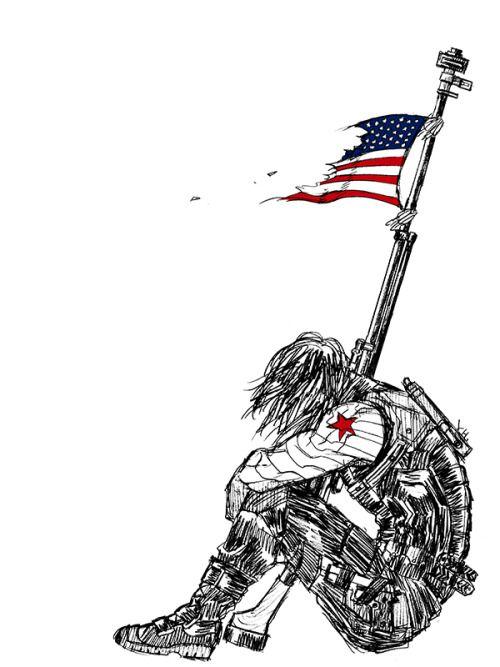 Captain America (MCU)   Bucky Barnes   Winter Soldier Fanart By 1000skullsu2026