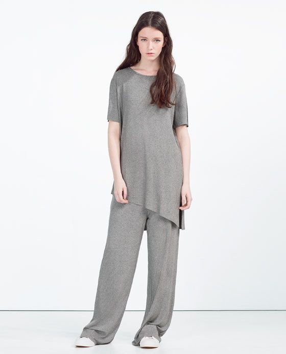 ZARA - COLLECTION SS16 - RIBBED T-SHIRT