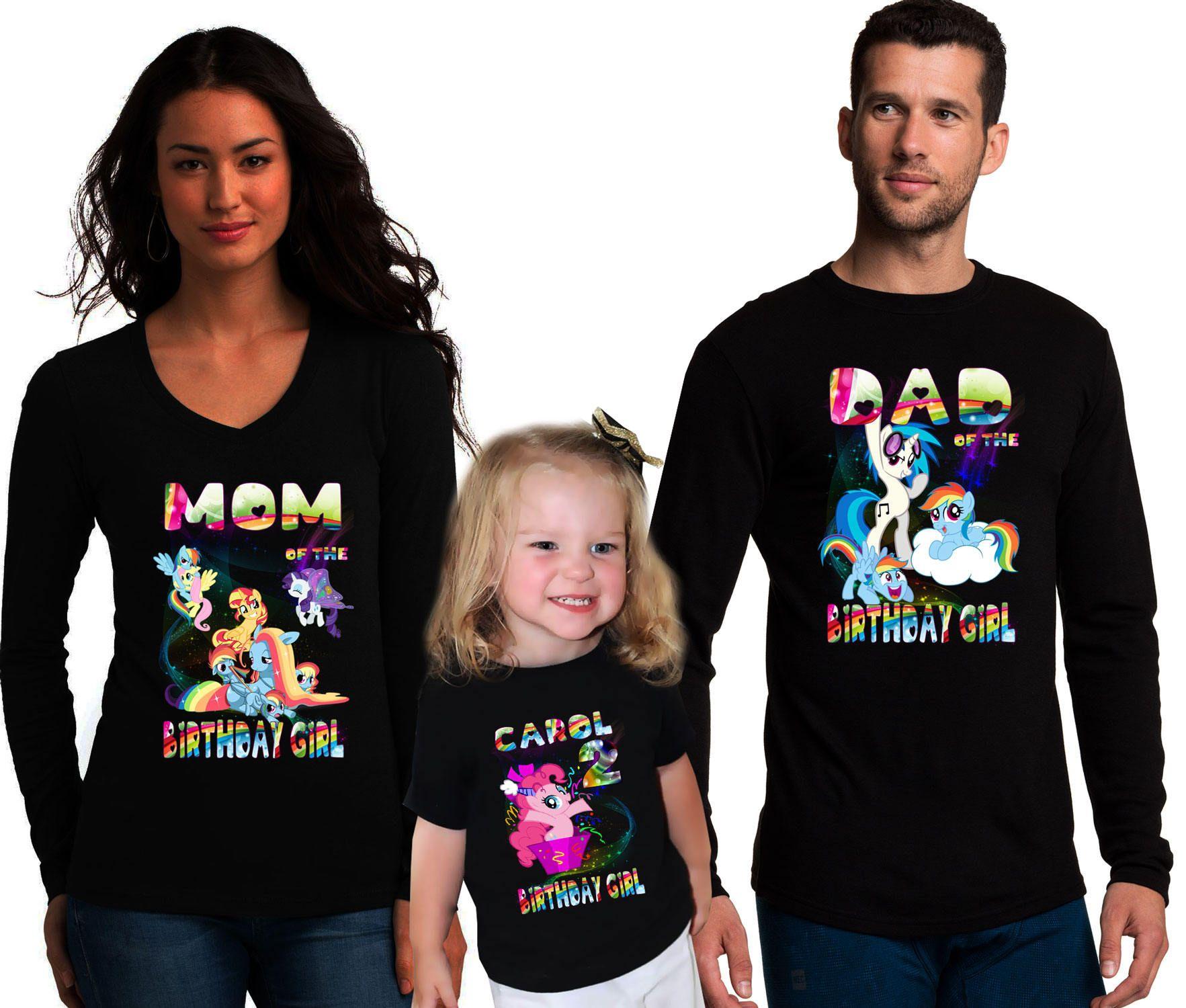 33b8a9f6 My Little Pony Birthday Family Shirts Family Pony Shirts Pony T-Shirt  Twilight Sparkle Shirt Applejack T-Shirt Spike Shirt Pinkie Pie Tee by ...