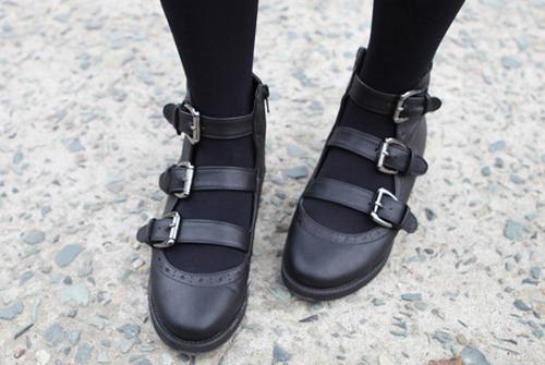 0cbcee76321ceb Kpop Style - Kstylick   Miamasvin  Multi-strap Mary Jane Shoes