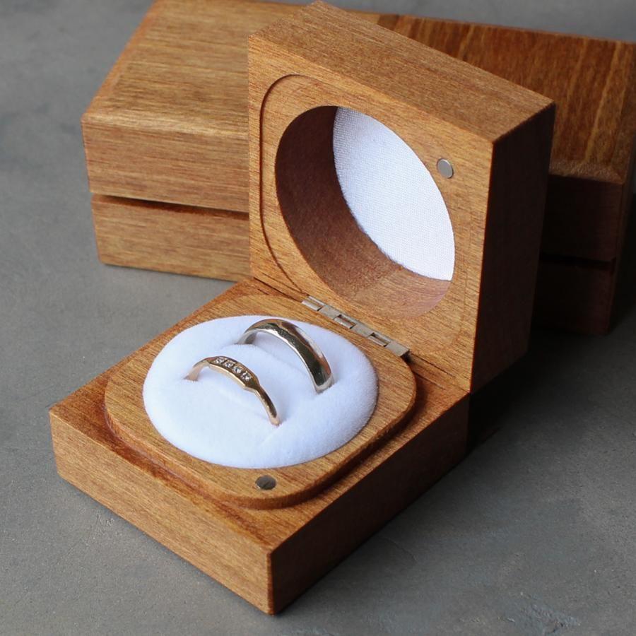 Handmade Sustainable Rimu Ring Boxes Wood Ring Box Wooden Ring Box Wooden Jewelry Boxes