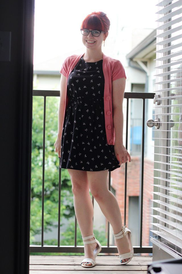 15cac6c8afe Work Outfit  Bow Print Dress