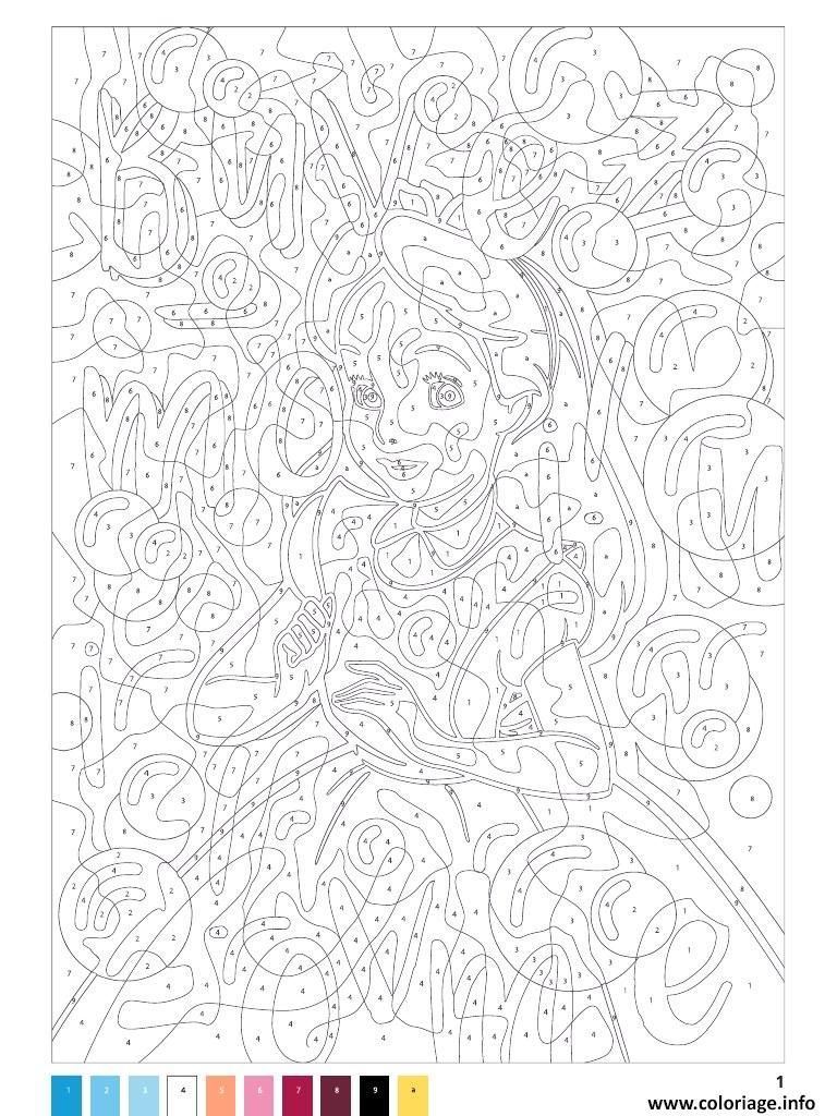 Coloriage mystere disney princesse fille à imprimer en 4