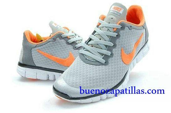 pintar Mansión Desviación  Hombre Nike Free 3.0 V2 Zapatillas (color : vamp - gris , en el interior y  logotipo - naranja; sole - blanco) | Free running shoes, Nike free shoes,  Nike free