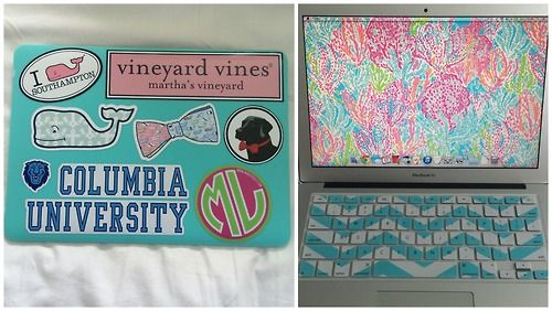 How to decorate a laptop with stickers properly not too cluttered and super cute