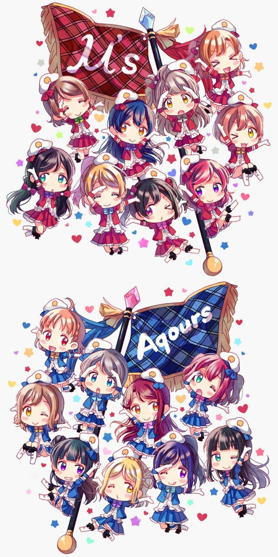 Aqours Xmuse Love Live Sunshine Pdp Pinterest Animefondos