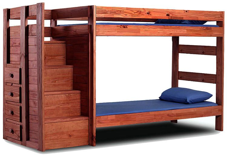 Hemet Twin Over Twin Stairway Bunk Bed 740 Bunk Beds With