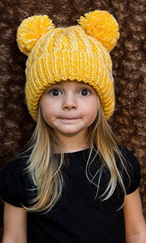 6a0e8137689 Funky Junque s Kids Baby Toddler Children s Unisex Knit Double Pom Winter  Beanie GREAT LOOK  Just