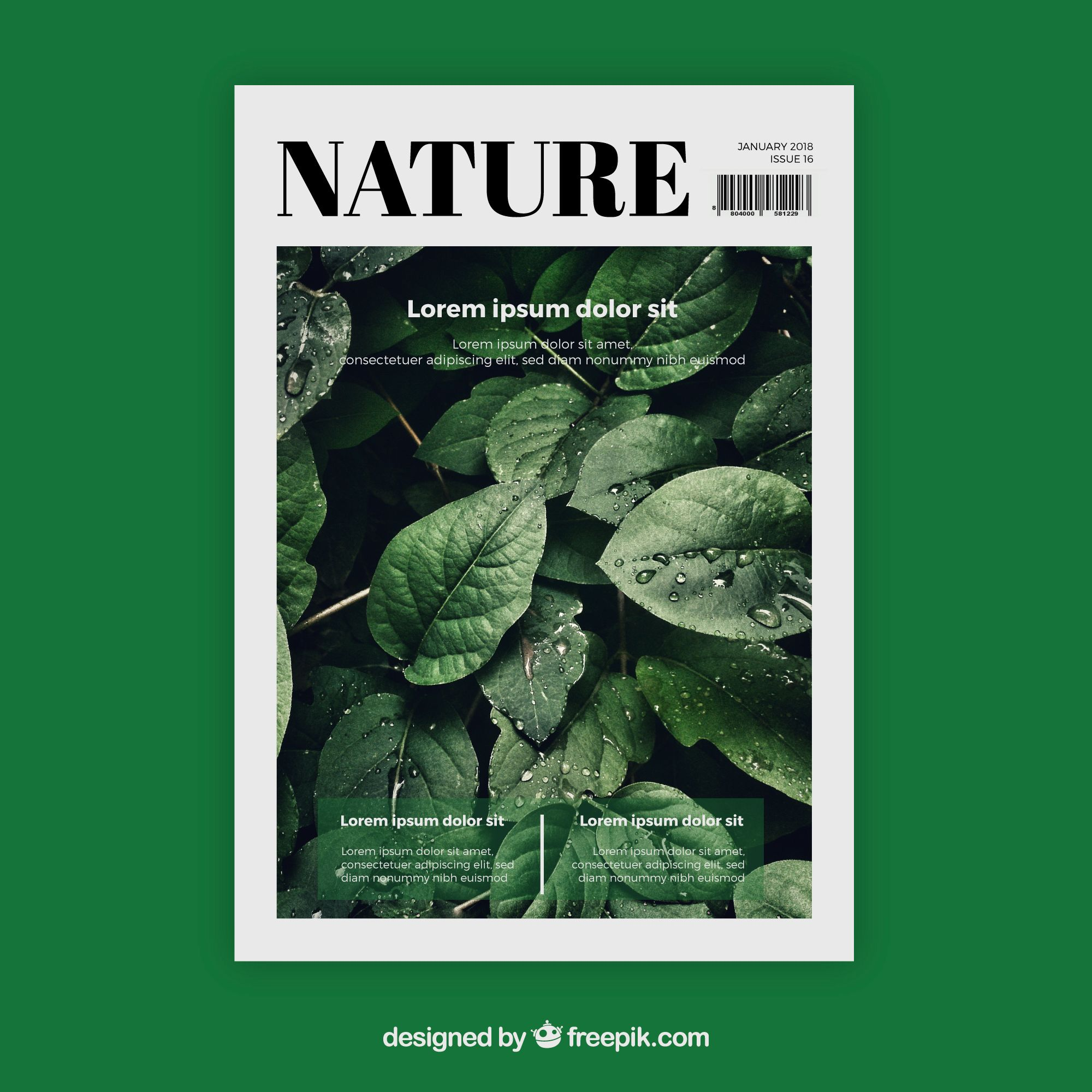 Download Nature Magazine Cover Template With Photo For Free Magazine Design Cover Magazine Cover Template Editorial Design Magazine