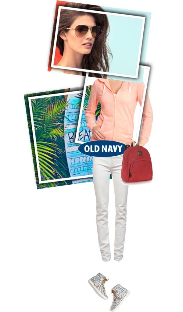"""""""Old Navy Tee Hoodie"""" by missisammy ❤ liked on Polyvore"""