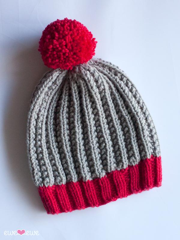 Shaggy Beanie Pdf Slouch Hat Knitting Pattern Baa Baa Bulky Yarn