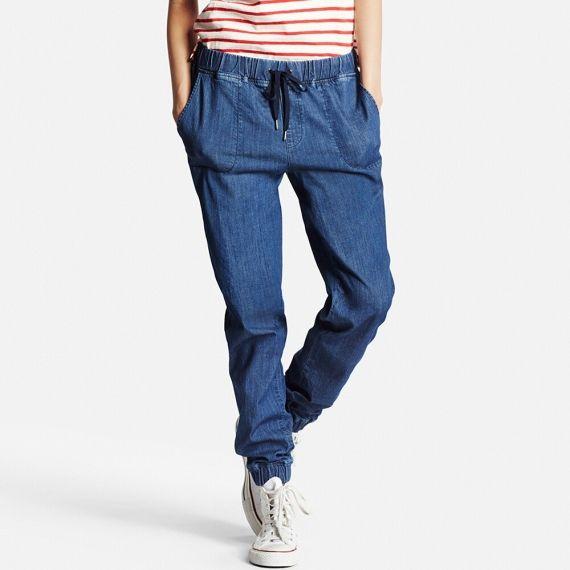 Women Denim Jogger Pants Pants Bottoms Women Joggers Womens Denim Women Denim Jogger Pants
