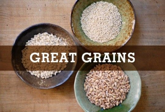 Go to grains- cook off your grains to use for the week- a great idea to cut time and inspire creativity