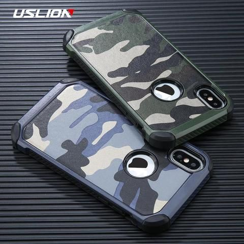 d85dbc5b72 USLION Cool Camouflage Phone Case For iPhone 6 6s 7 Plus Army Camo Phone Cases  Shockproof Armor Back Cover For iPhone X 5 5s SE From Touchy Style Outfit  ...