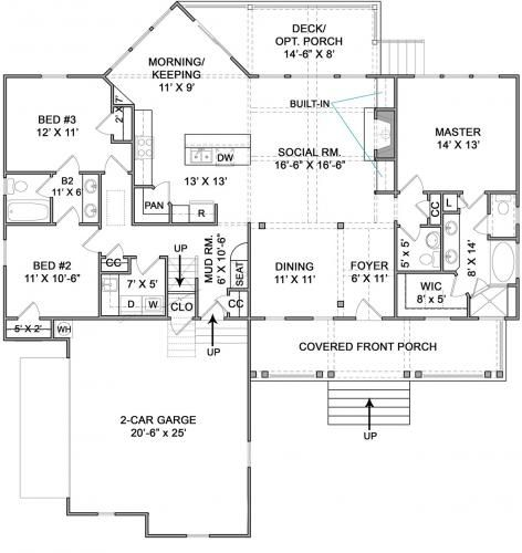 Cumberland Cottage House Plan Low Country Coastal Tidewater Ranch Floor Plan Custom Home Building E Floor Plans Ranch Cottage House Plans Cottage Floor Plans