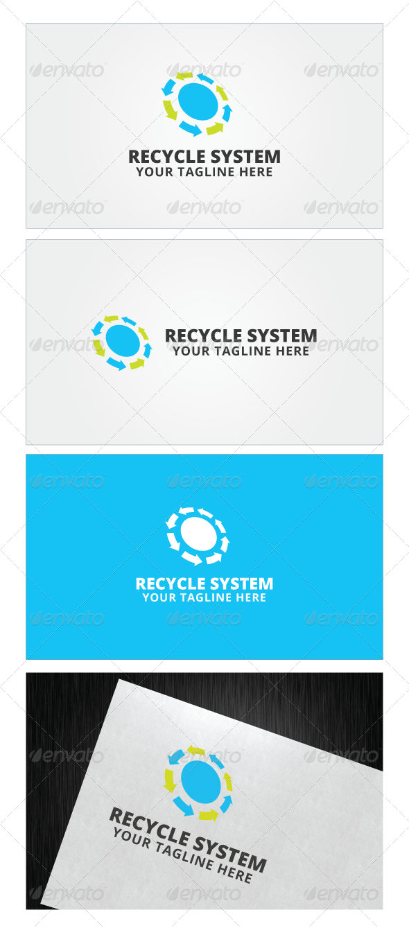 Recycle System Logo Template Target Stock Download Here Https Graphicriver Net Item Recycle Logo Templates Dental Logo Logo Design Template