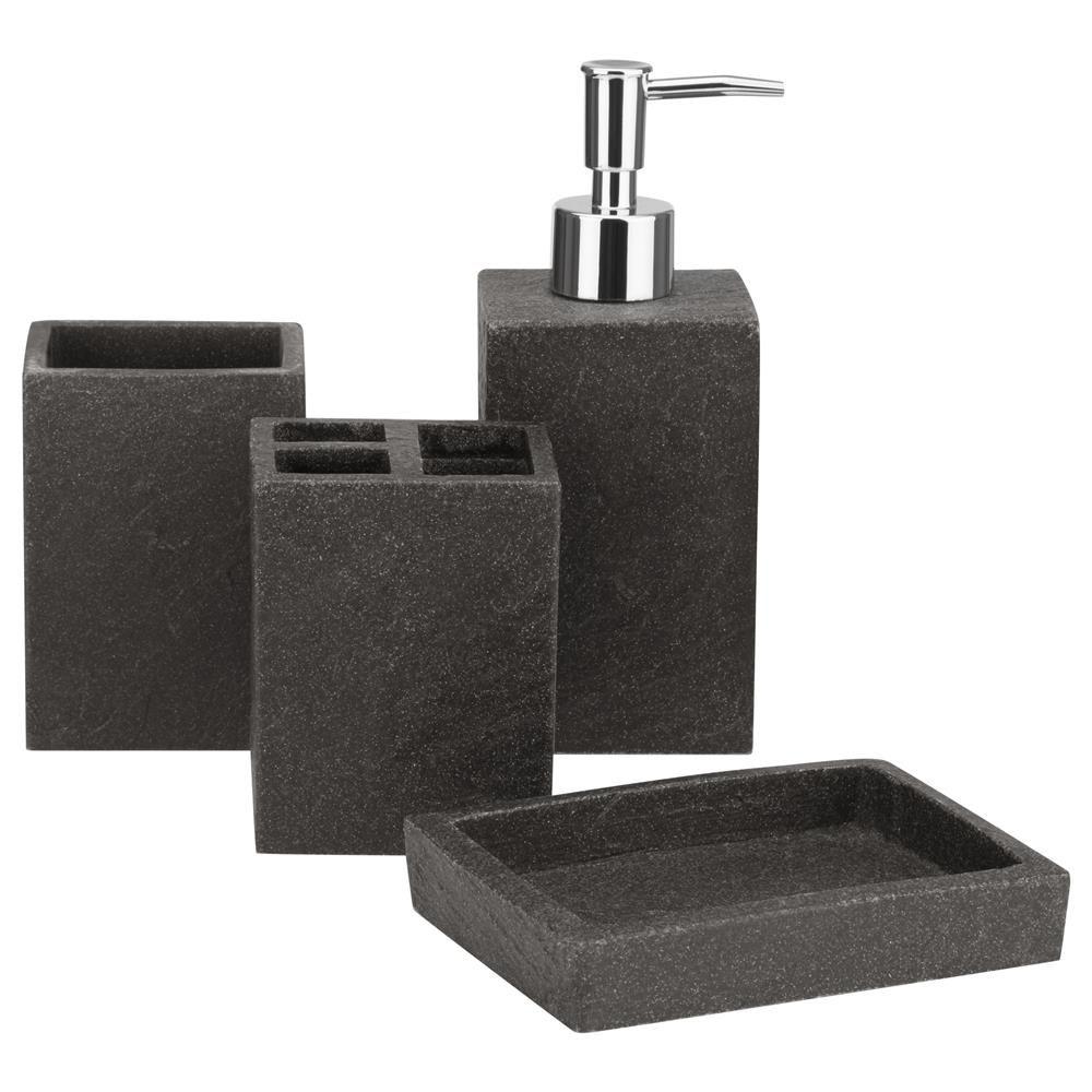 Bath Charcoal Bath Accessories Set Soap