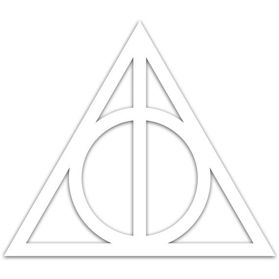 Harry Potter Deathly Hallows Symbol Car Window by