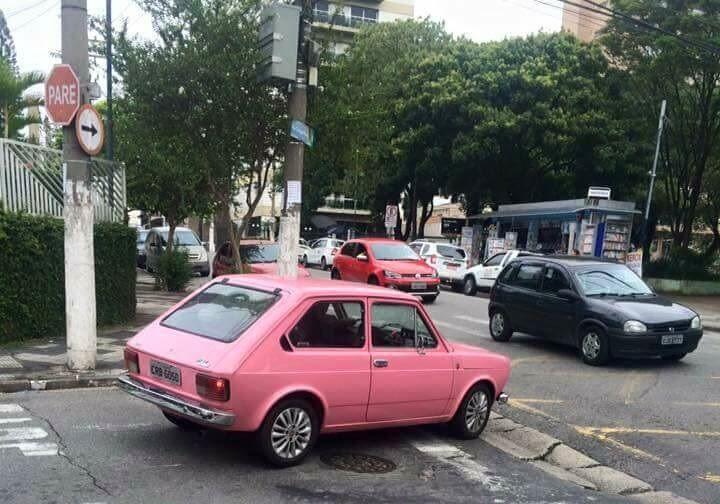 Fiat 147 Rosa Jahsaude Rosas