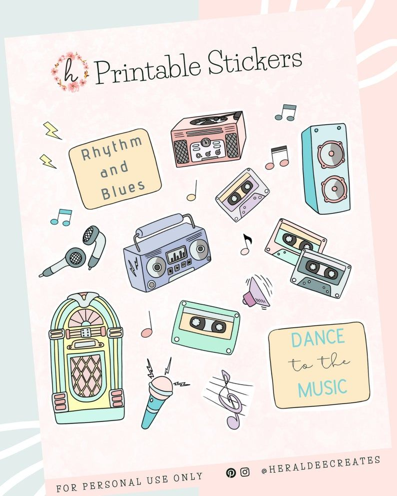 Pastel Retro Stickers Bullet Journal 90 S Stickers Etsy In 2020 Bullet Journal Stickers Journal Stickers Aesthetic Stickers