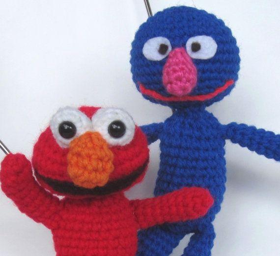 Crochet Pattern Amigurumi Elmo Grover Inspired Amigurumi Pattern