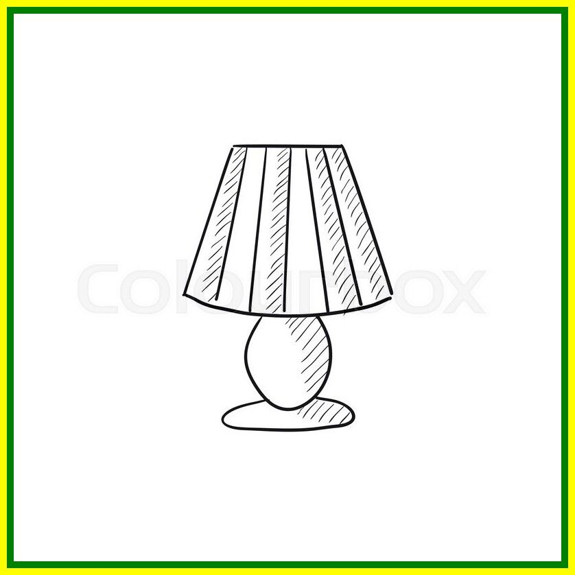 54 Reference Of Table Lamp Drawing Simple In 2020 Lamp Easy Drawings Table Lamp