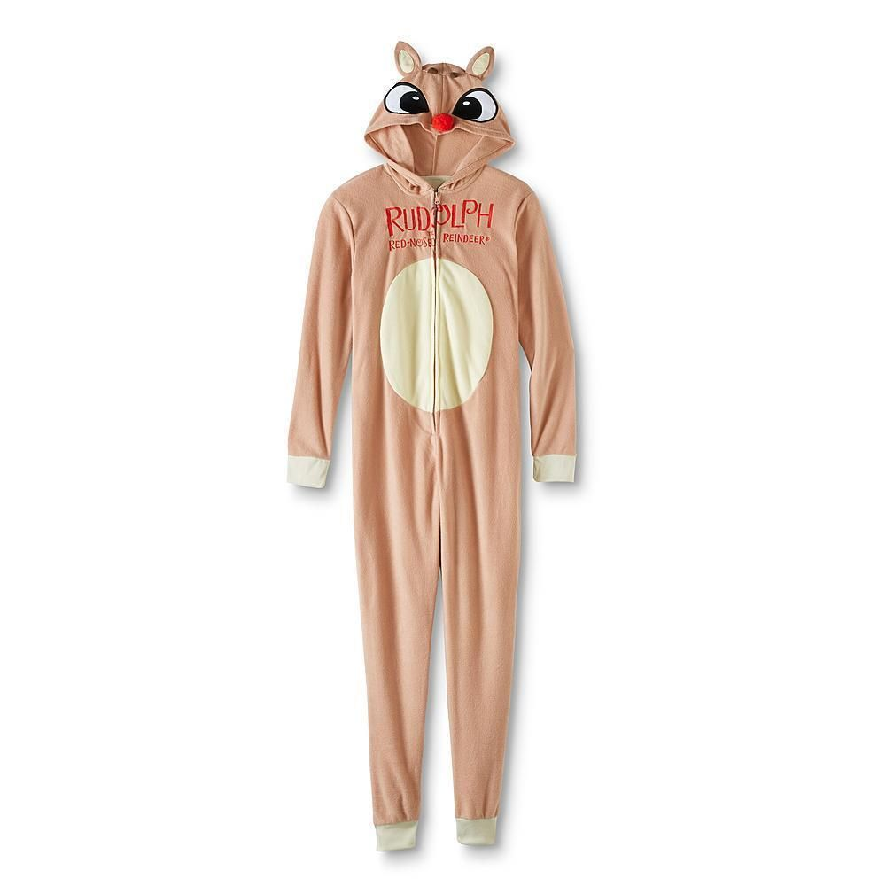 370f91425e47 Rudolph the Red-Nosed Reindeer Union Suit Women s One-Piece Pajamas ...