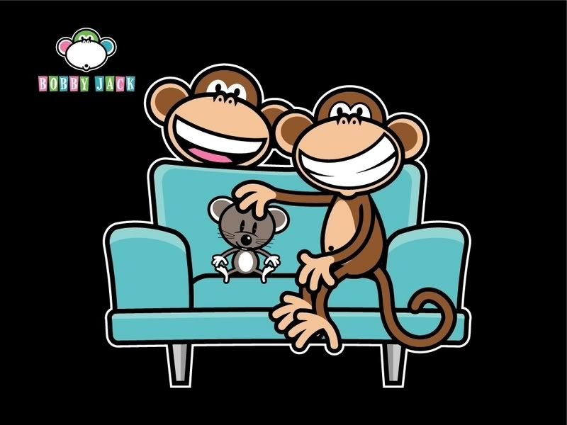 Original Bobby Jack Bobby Jack And Friends On Blue Sofa On Black Background Sewing Projects Animal Art Cartoon