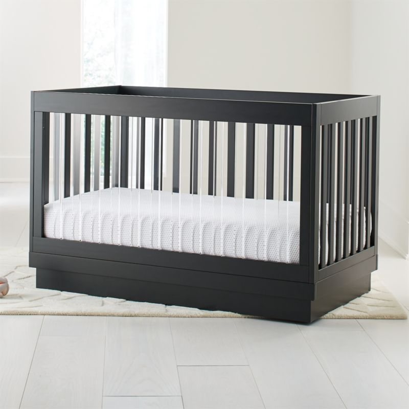 Babyletto Harlow Acrylic And Black 3 In 1 Convertible Crib Crate And Barrel Convertible Crib Cribs Crib Design