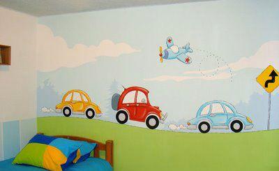 Decoraci n de paredes pintura mural decorativa - Pintura decorativa paredes ...