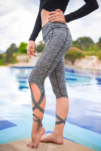 e4d0438d13363a Ballet Inspired Bandage Yoga Sexy Legging Pants