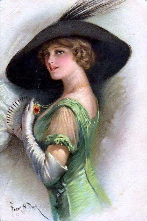 Женские образы на открытках