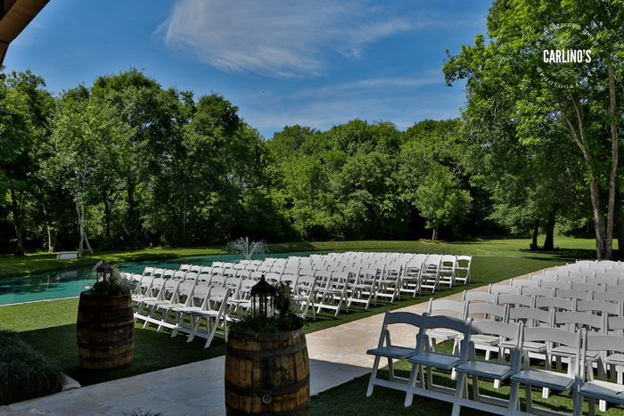 THE SPRINGS In Katy Beautiful Outdoor Ceremony Seating Under The Gorgeous TX Sky Houston Wedding Venues